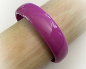 Vintage Purple Plastic Bangle Bracelet