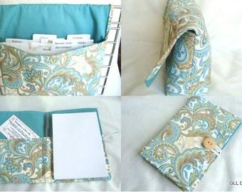 Coupon Organizer / Budget Organizer Holder and List Taker Set -Pick Your Fabric - GIFT SET - New Fabrics