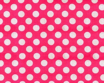 Michael Miller Fabric Ta Dot Princess Pink, Choose your cut