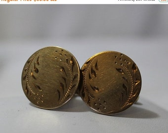 MEMORIAL DAY SALE Vintage A&Z 12K G.F. Etched Cuff Links for Men or Women