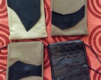 Handmade Leather Crossbody Lot - 4 Leather Bags