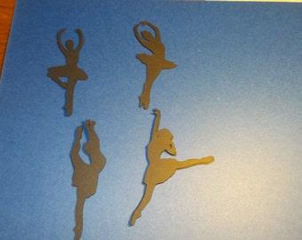ballerina Die Cut, Set of 8 ballerina silhouettes,Ballerina silhouettes