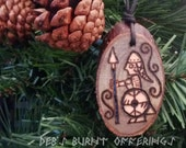 Shieldmaiden Valkyrie Wood Pendant Necklace