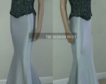 Wedding Mermaid maxi skirt and sequin top Small
