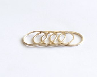 Delicate 1mm square ring square and thin sphere midi brass stacking ring dainty daily simple sterling silver ring thin brass ring 0066