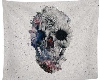 Floral Skull 2 Tapestry