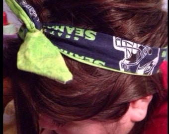 Seattle Seahawks headwrap headband  Rockabilly style