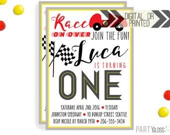 Racecar Birthday Invitation | Digital or Printed |  Racecar Party | Race Car Invite |  Car Invite |  Racecar Party Invitation | Race Cars