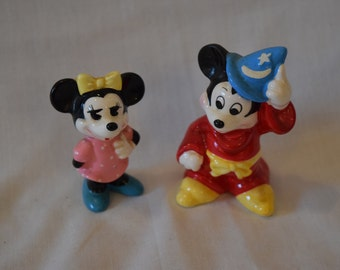 Wizard Fantasia Mickey Mouse and Minnie Mouse Disney Collectible Figurines