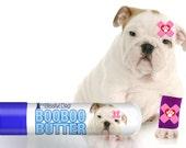 Bulldog Boo Boo Butter Handcrafted Organic Balm for Your English Bulldog's Discomforts .15 oz Tube with Bulldog Label in Gift Bag
