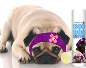 Pug Boo Boo Butter Handcrafted All Natural Herbal Balm for Your Pug's Discomforts .50 oz Tube with Boo Boo Pug Duo Label in Gift Bag