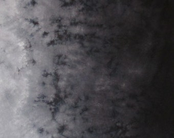 Hand Dyed Gradient Fabric - Black