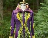 Reserved for Brenda.  Sweater COAT, Eco Fantasy boho clothing