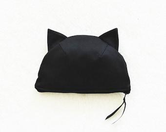 Black Cat Cotton Pouch