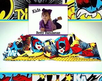 KIDS...Betty Bandana in BatGirl ....New Size & Style