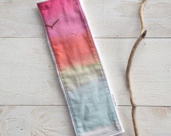 Baby Burp Cloth  - Sunset Birds - Ombre Watercolor - Boutique Baby Gift - Layette Gift  - Gender Neutral - bitty bambu