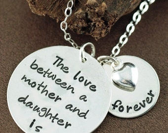 snap items similar to hand stamped necklace mother daughter jewelry