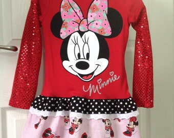Minnie Mouse T-Shirt Dress Size 5