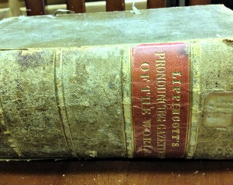 Antique geography dictionary, Pronouncing Gazetteer, 1856 dictionary, Lippincott dictionary, antique reference book, early geography book