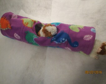 XL Fleece and Cotton Tunnel with peak hole for Guinea Pig, Ferret or Small Animal