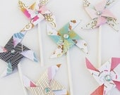 Happy Jeweled Pinwheels - Cupcake Toppers/Party Picks Birthday, New Years Eve