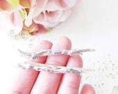 Silver Branch TWIG Hair Pin Set - Branch Bobby Pins - Tree Branch - Stick Hair Pins - Woodland - Wedding Hair Accessory - Bridal