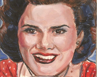 Patsy Cline original compact size economically priced painting