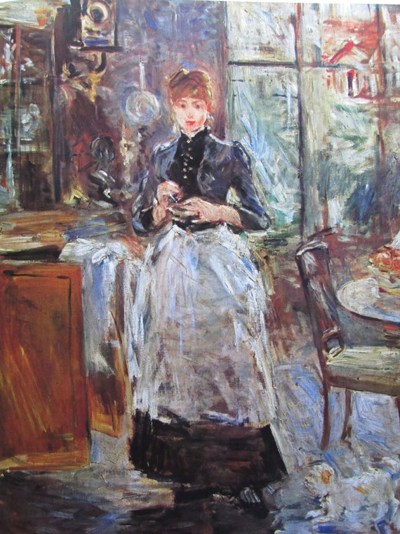 berthe morisot in the dining room 1886 9 x 11 in by