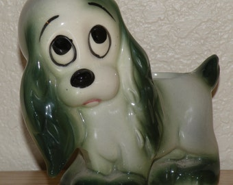 Ceramic 1950s Dog Planter