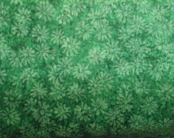 Sale Tonal Green Print 100% Cotton Quality Fabric 1 yard