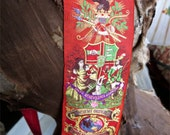 1800s Ancient Order Of Foresters Banner Sash PCR Secret Society Made By B Pasquale Co San Francisco