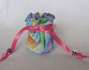 Jewelry Bag with Metal Charms - Mini Size - Tote - Pouch - FLUTTER FLUTTER BUTTERFLY