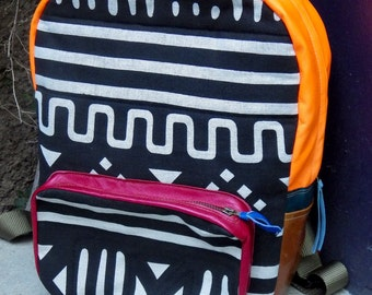 African Print Colorful Backpack