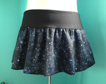 Galaxy Print Mini Skirt