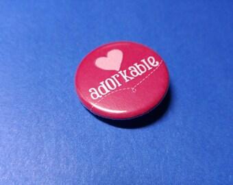 Adorkable Pinback Button (or Magnet)