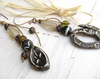 The Dawn's Dresses: Baroque earrings with shimmering contemporary ceramics ....
