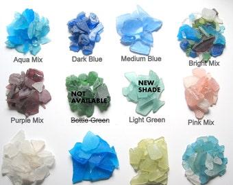 Beach Decor Sea Glass SAMPLE - Nautical Decor Beach Glass 1 OZ Sample, Any Color