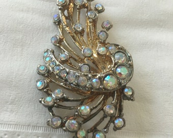 Vintage AB Rhinestone 1960s Pin
