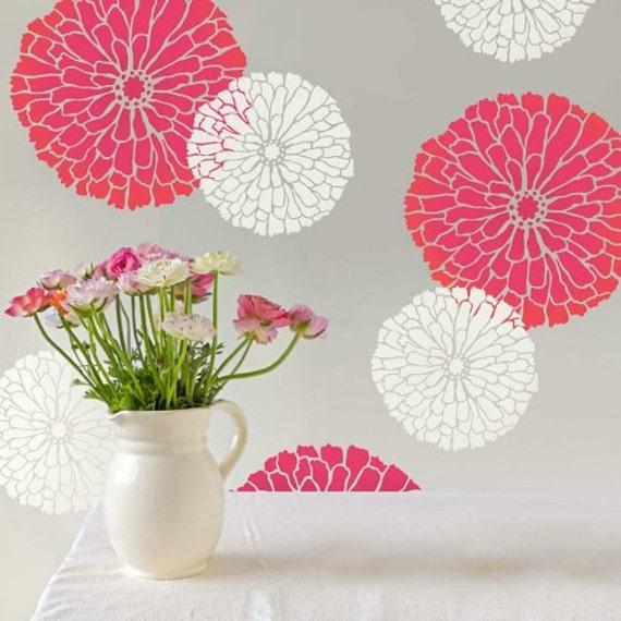 Summer Blossom Floral Wall Art Stencil Medium DIY Wall