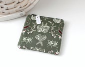 Forest Green Coin Purse Woodland Insects Change Purse Green Woodland Gift Card Holder