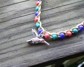 Hummingbird Anklet Size and Color Choices