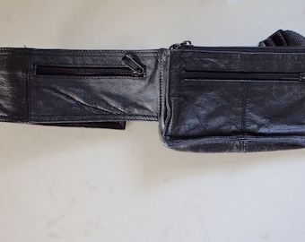 Leather Fanny Pack Vintage Black