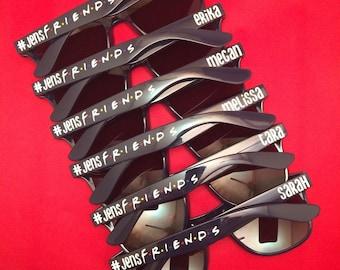 Bachelorette Sunglasses, Wedding Sunglasses, Bach Bash, Bachelorette Gift, Personalized Sunglasses, Birthday Sunglasses, Friends