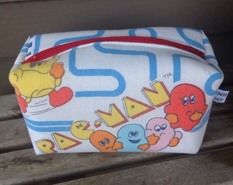 Pac Man Rectangular Zipper Pouch Recycled