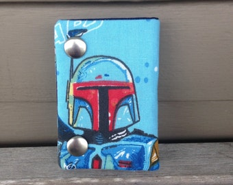 Star Wars Boba Fett 3 Fold Chain Wallet Recycled