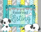Custom Listing for Etsy User Amanda Larkowski