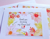 Bridesmaid Card, Maid of Honor Card, Flower Girl Card, Bridal Party Cards, Thank You Cards, Wedding Thank You Cards - Floral Cards - mbftyc