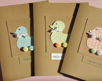 Baby Shower Cards - Baby Shower Thank You Cards - Welcome Baby Cards - Baby Gift Thank You Cards - Baby Duck card - BDK