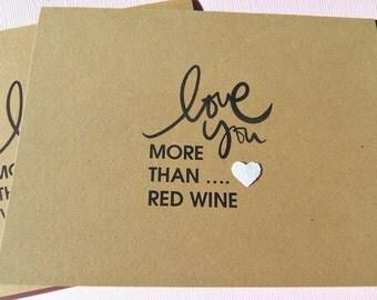 Humorous Romantic Cards - Humorous Birthday Cards - Humorous Friendship Cards - Humorous Love cards - Kraft card stock cards - lym