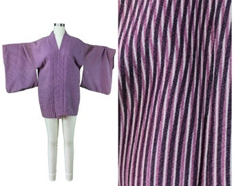Vintage Japanese Kimono / Authentic Vintage Kimono / Festival Short Kimono / Silk Spring Summer Kimono / Festival Psychedelic Print Kimono
